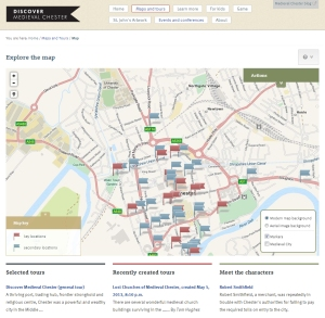 Discover Medieval Chester map