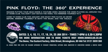 Dome Club Pink Floyd Flyer (front)